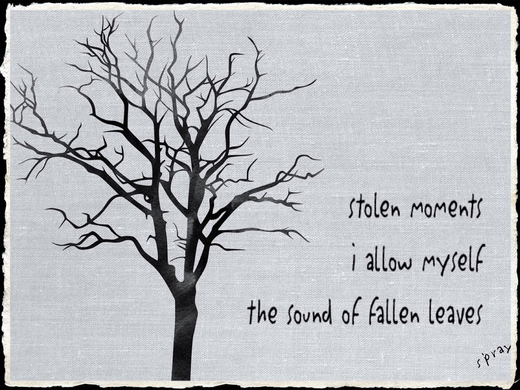 stolen moments   i allow myself the sound of fallen leaves #haiku #nahaiwrimo https://t.co/PKADlvzlxf
