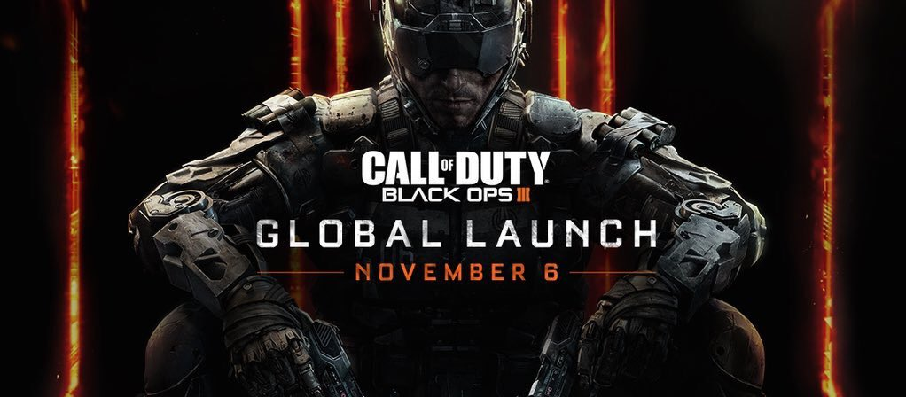 Woah! #BlackOps3 launches in just over 3 days. RT if you're hyped! https://t.co/OYxtRSRV4Y