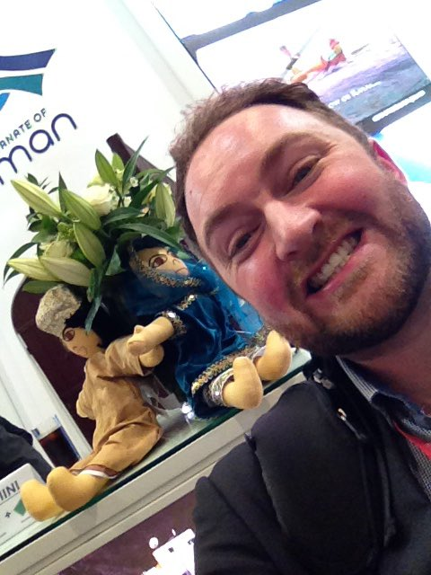 Having a blast at the #WTM2015  #Oman_Tourism_UK and #OmaniDolls https://t.co/TqSz2PYCO8