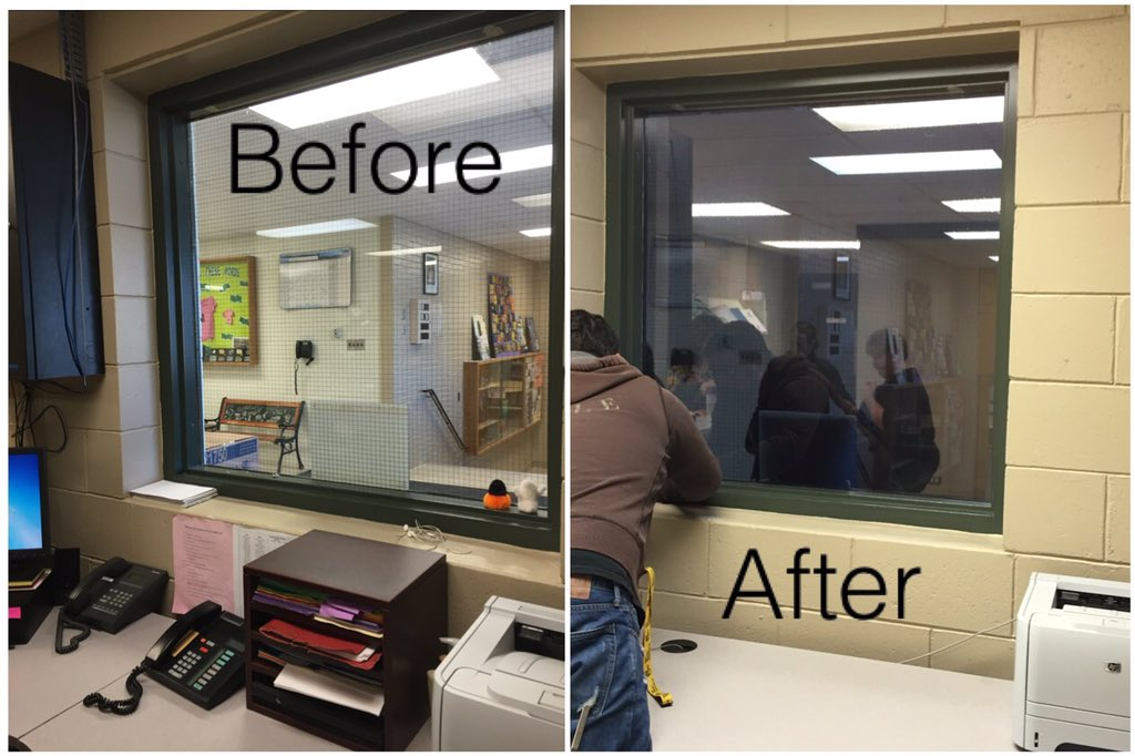 pib customs inc on twitter llumar one way mirror film installed on office window arborgci. Black Bedroom Furniture Sets. Home Design Ideas