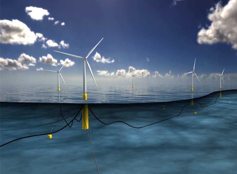 World's First Floating Wind Farm Will Power 20,000 Homes