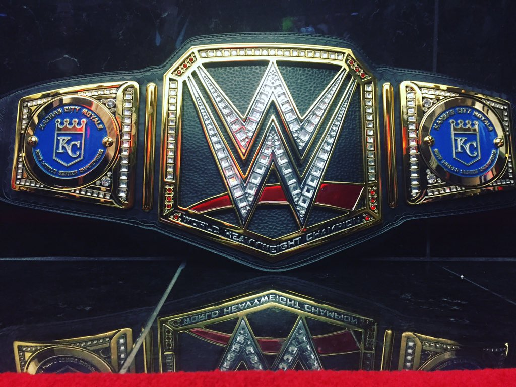 Triple H sends a custom WWE World Heavyweight Championship to Kansas City Royals
