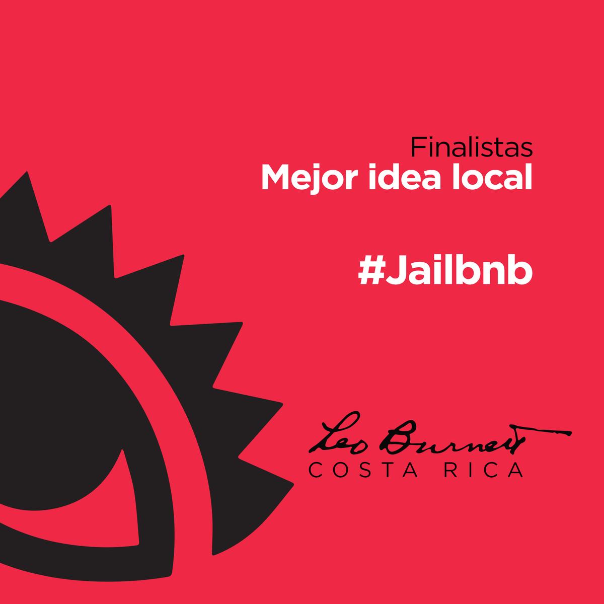 #Jailbnb entre las mejores ideas de Centroamérica y Caribe en el #ElOjo2015 https://t.co/EyIlSnRtm9 #LeoBurnettCR https://t.co/Zv7xmP64aJ
