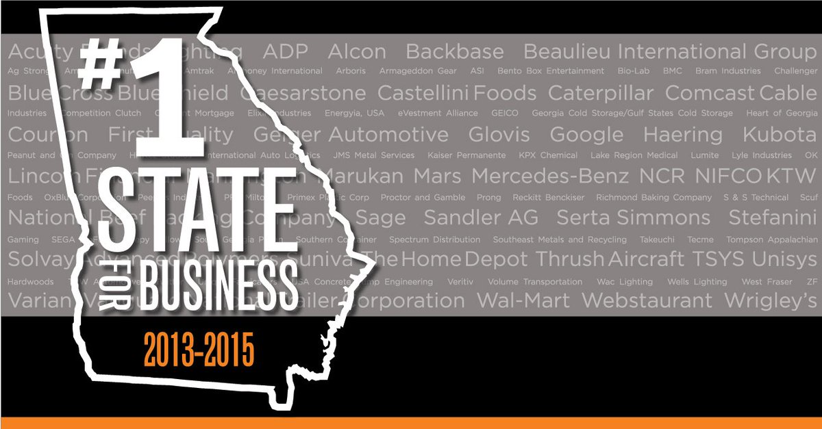 .@SiteSelection has named Georgia the #1 state for business for the third year in a row: https://t.co/dJJbyBgHue https://t.co/dPdIYP0N3b