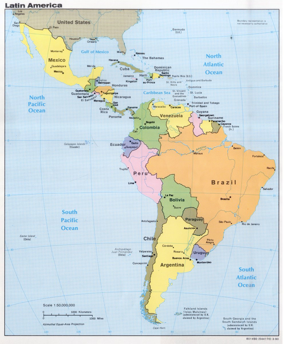 Thumbnail for #worldgeochat - November 3 - Latin America