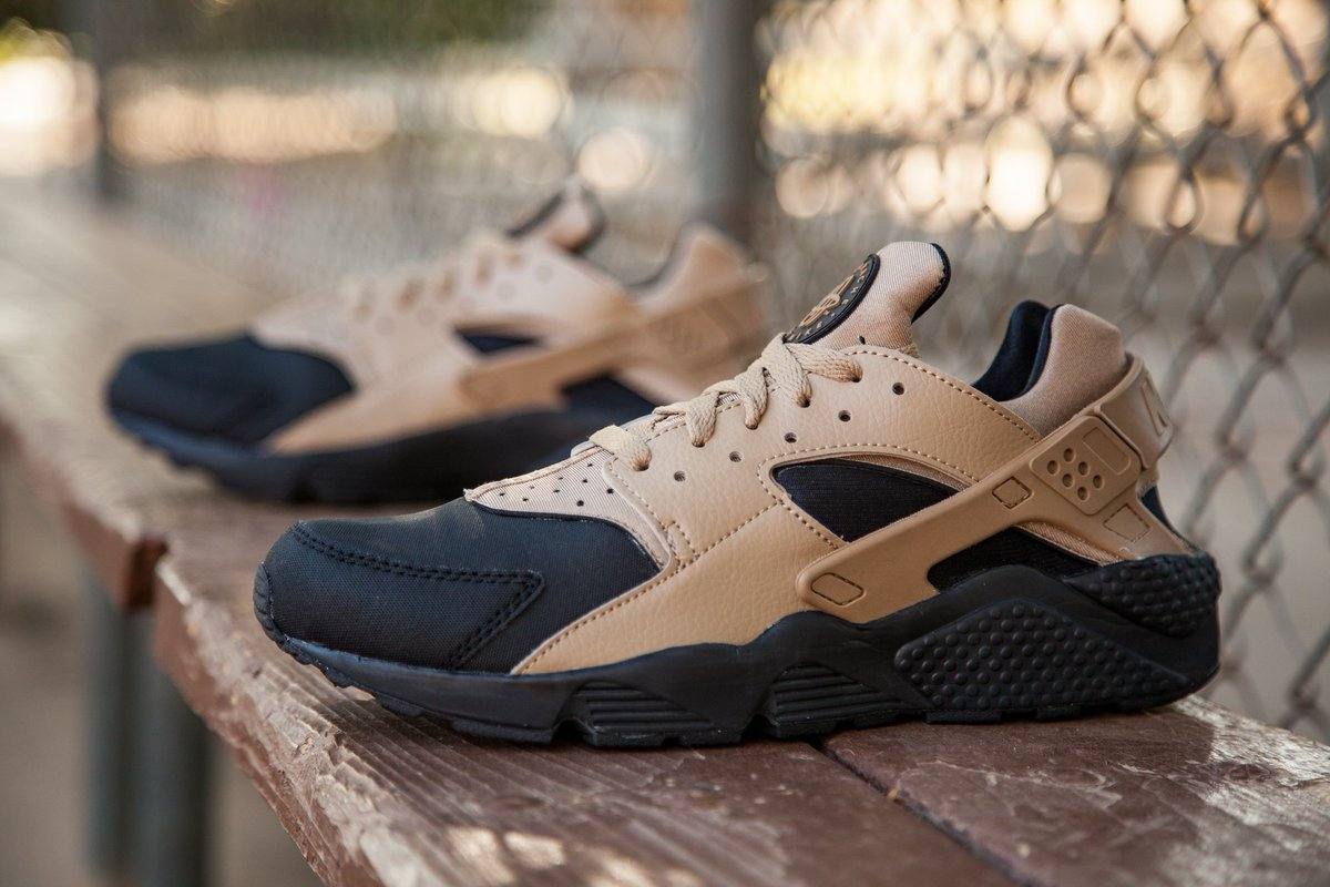 sports shoes e089f 556af Nike Men s Air Huarache Run PRM in black and desert camo is available at  BAIT DB in sizes 8-13 for  120.pic.twitter.com w0GEmPCoph