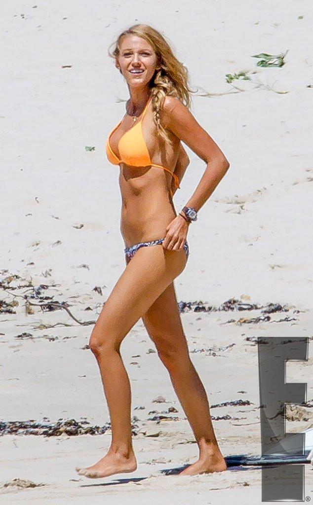 Blake Lively Is A Beach Babe In Tiny Bikini While Filming In Australia