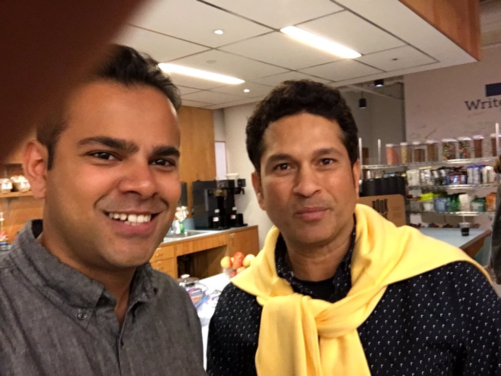 Nice meeting @sachin_rt at work today. Much greatness yet such humility. https://t.co/tZjdQYblXF