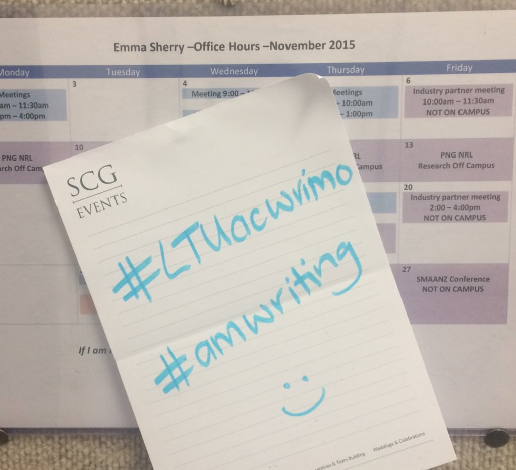 Thumbnail for #LTUacwrimo 1st tweetchat - 3 Nov 2015