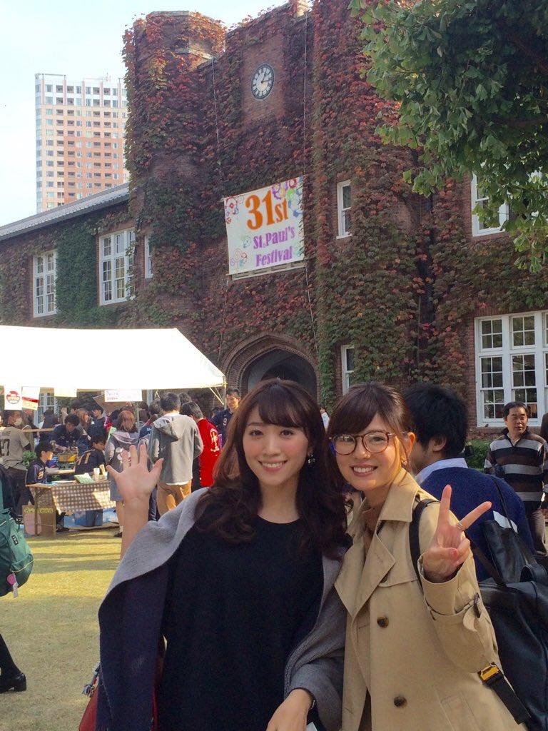 曽田麻衣子母校の立教大学にて