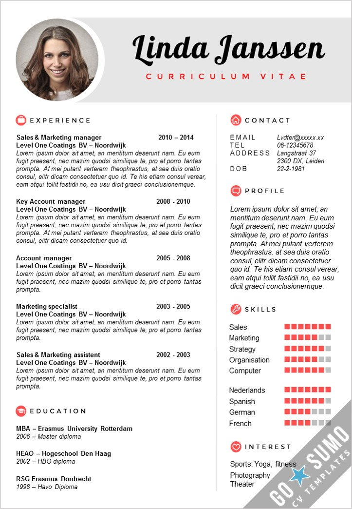 Go sumo cv template on twitter get your resume noticed creative 209 am 3 nov 2015 yelopaper Choice Image