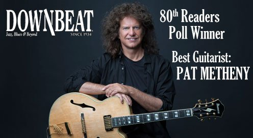 PAT METHENY WINS BEST GUITARIST IN DOWNBEAT'S 80TH READERS POLL!  https://t.co/CMrtMbgubk https://t.co/AivHot6RPe