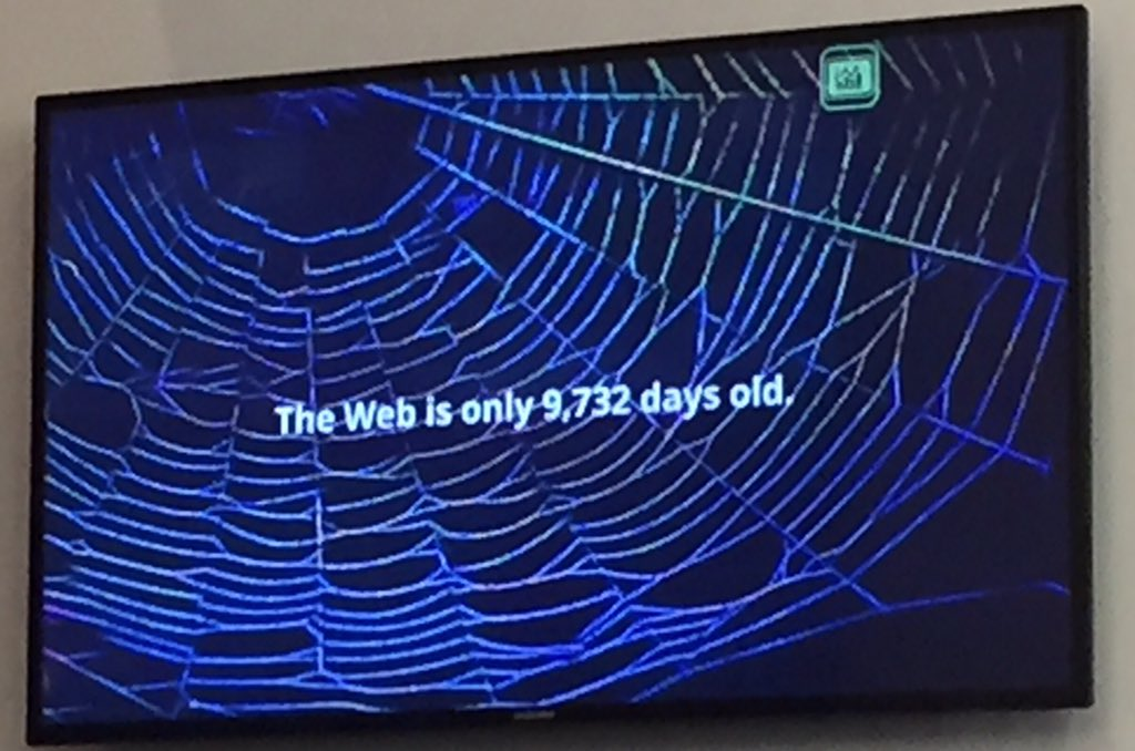 The #web is 9732 days old today. Amazing how much was accomplished in a short time. Excited about the next 9732 days https://t.co/XwvarabL0T