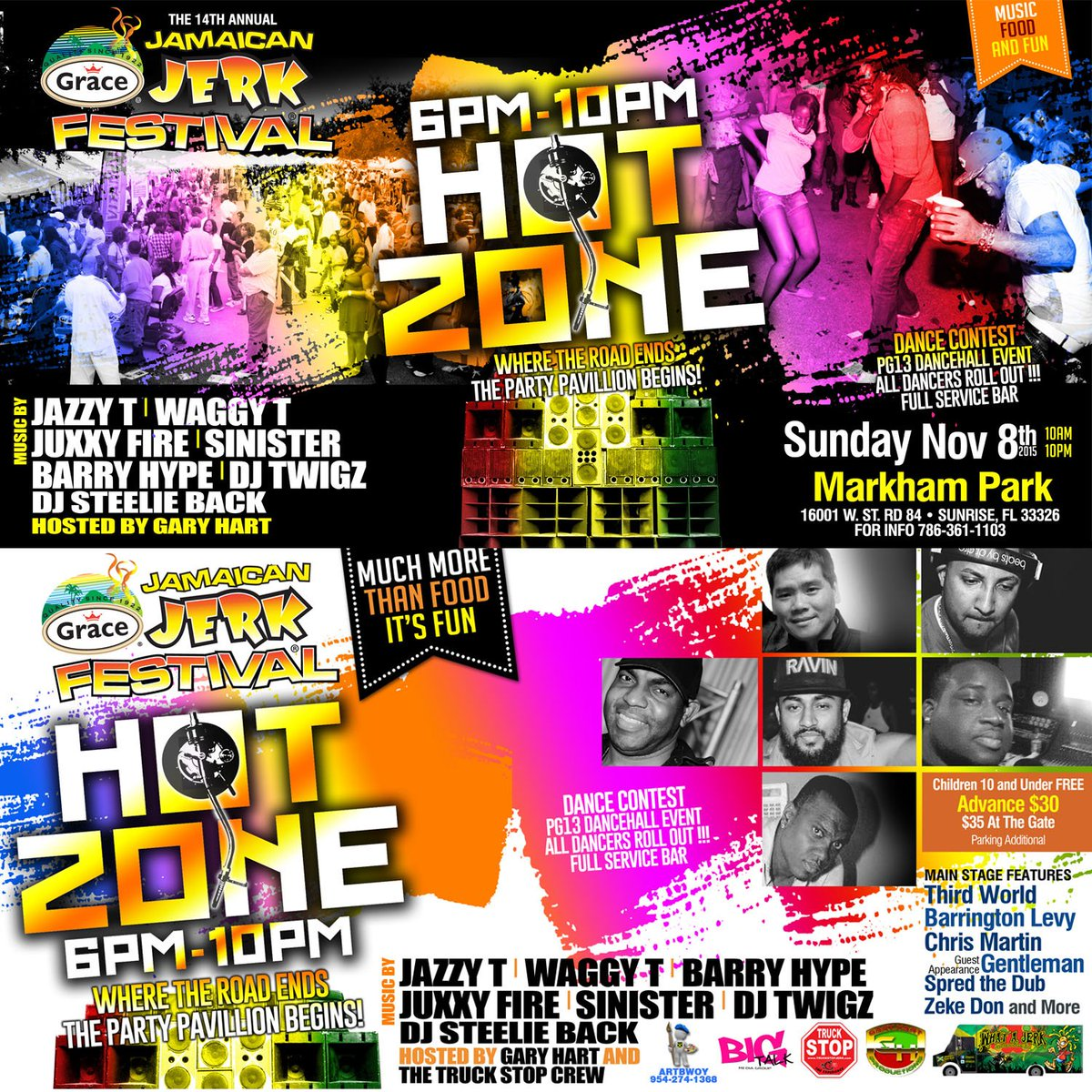 Where the road ends, the Party Pavillion begins! Dancehall comes alive in the Hot Zone at this year's #JerkFestival https://t.co/E3aGRawnnG