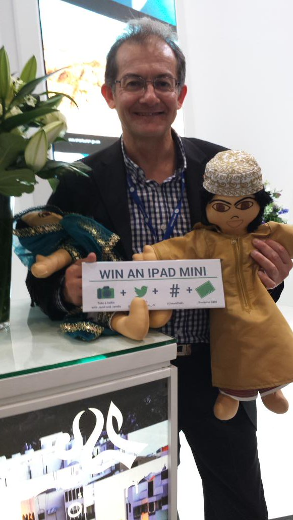 Congrats to @Oman_Tourism_UK  at #WTM2015. Well done 45yrs as a nation. Have to meet the #OmaniDolls who are great!! https://t.co/uo1G1B48Z8