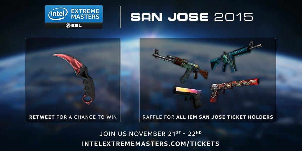 Intel extreme masters san jose giveaways