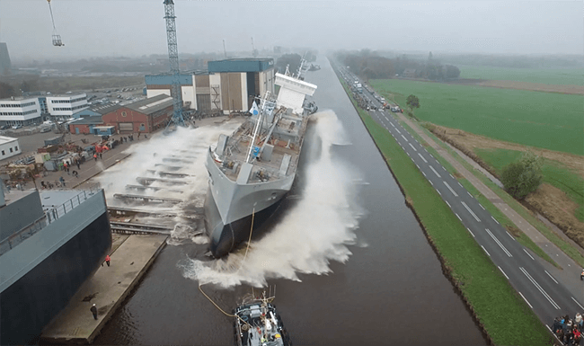 Watch: World's First LNG Fuelled Dry Cargo Vessel Launched https://t.co/4bs7Qapakh https://t.co/4wUksey2iQ