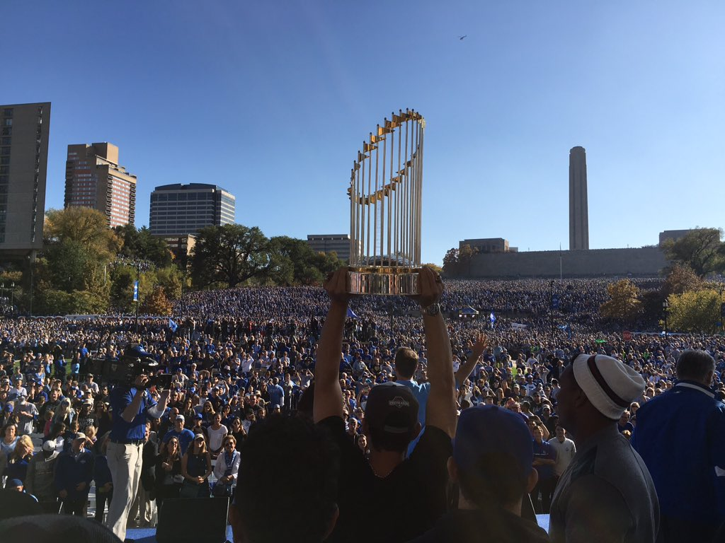 We just celebrated a #WorldSeries win w/all of KC...literally! https://t.co/pog6EDHYew