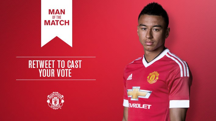 Retweet to vote for Jesse Lingard as #mufc's Man of the Match v CSKA Moscow.