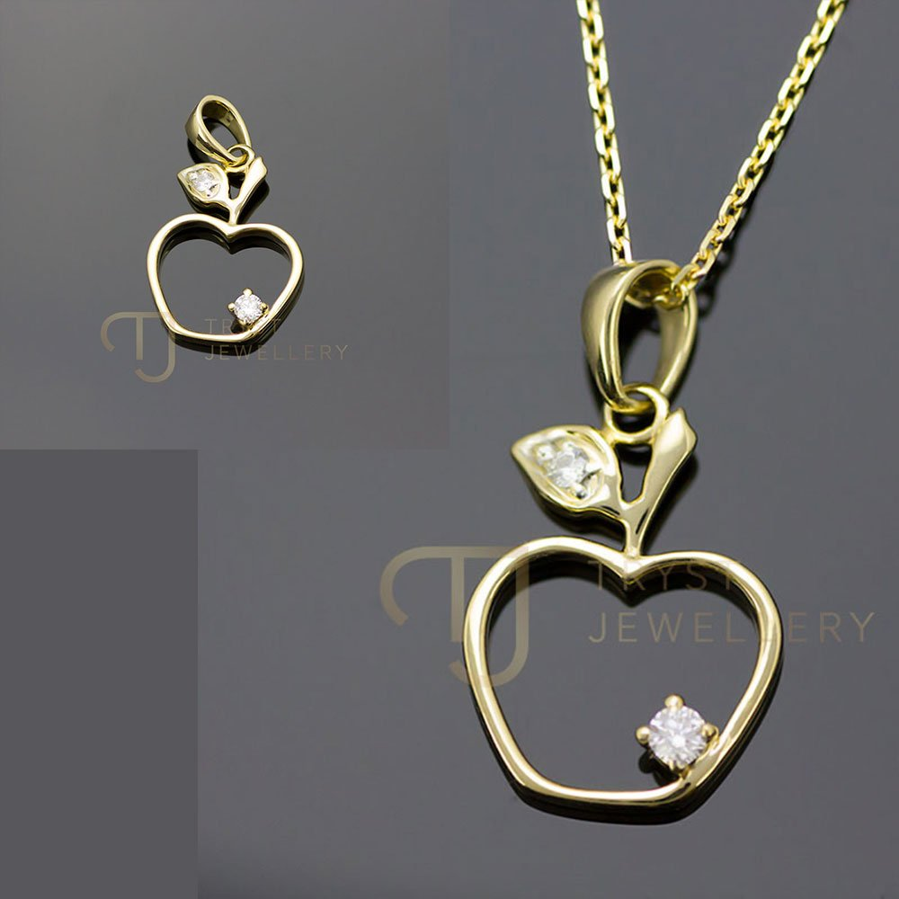 pendant lab format pyramid necklace diamond finish gold vvs bottle yellow chain shop set golden