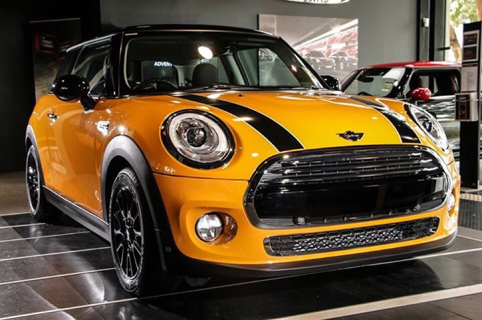 melbourne mini on twitter on show mini cooper in volcanic orange on cloth firework upholstery. Black Bedroom Furniture Sets. Home Design Ideas