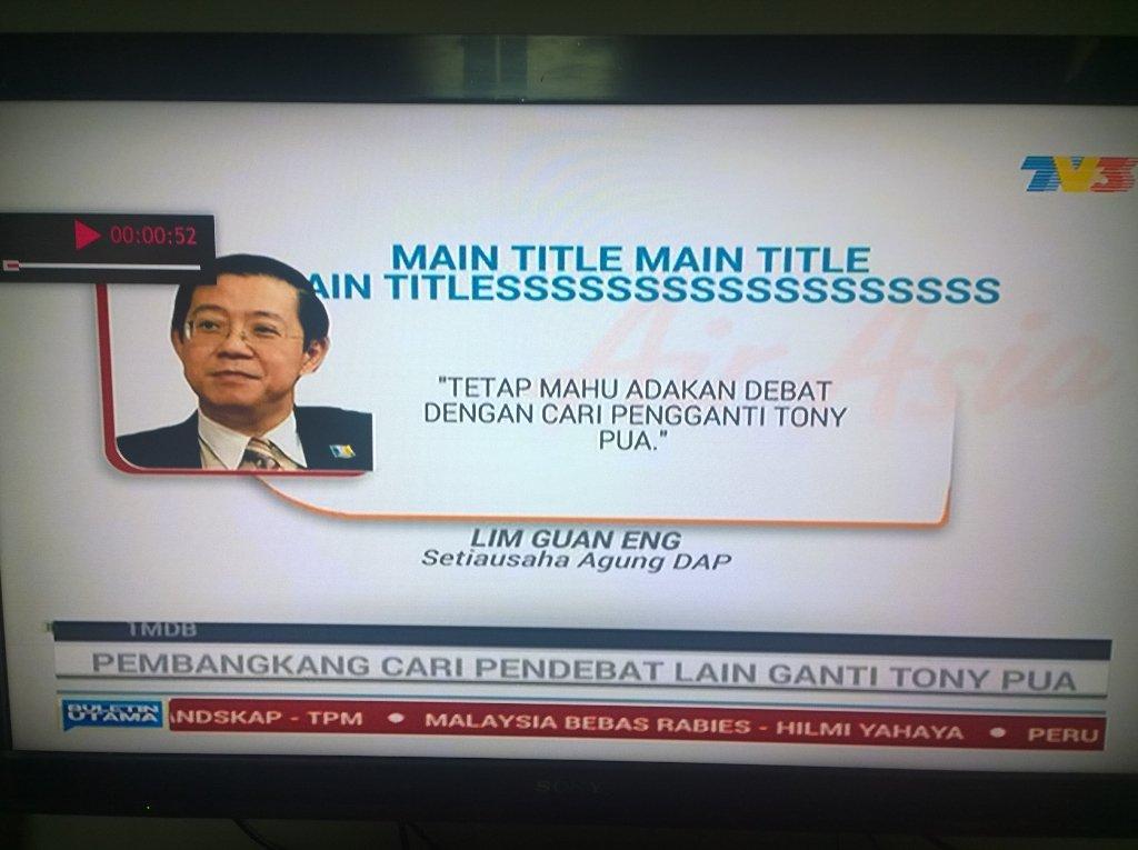 Pemalas gila Buletin Utama TV3! Main title menda tu? https://t.co/7sMdY4tRlG