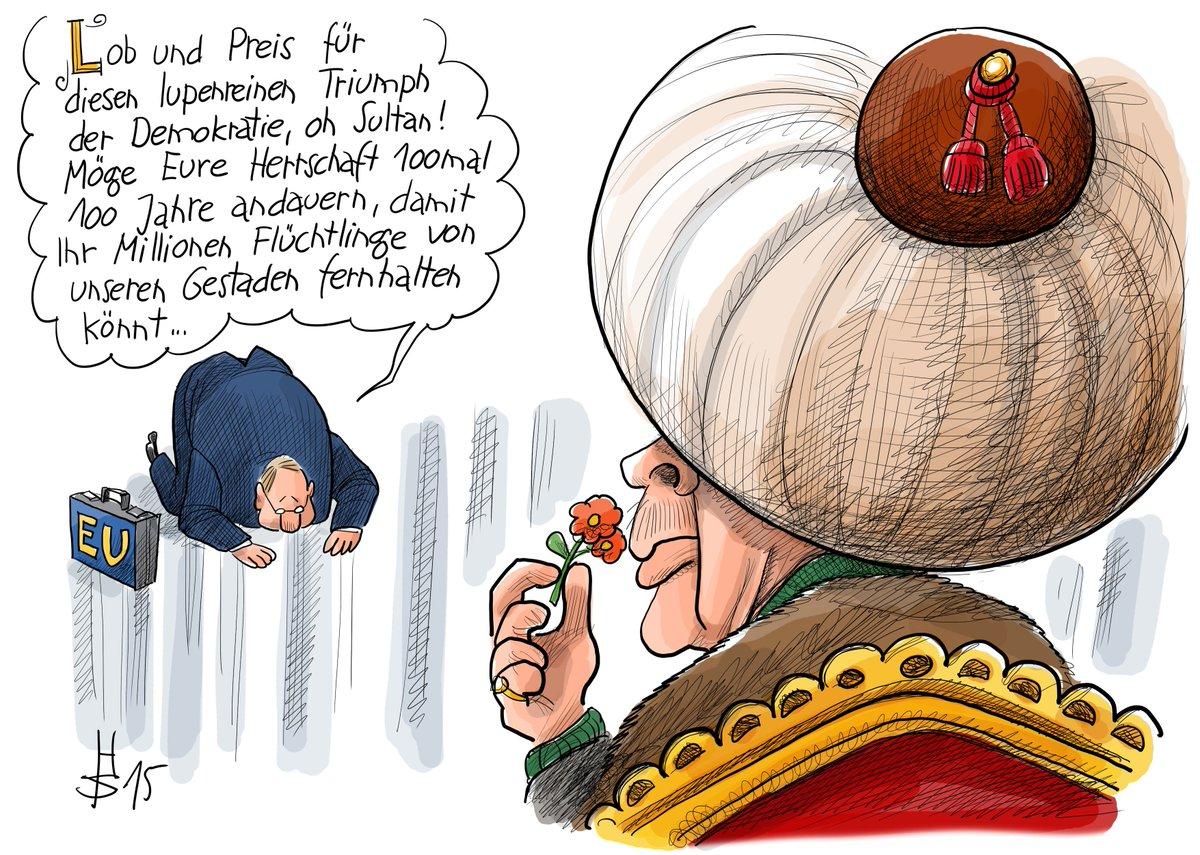 Ist die #EU zu unterwürfig? Unsere #Karikatur des Tages #erdogan https://t.co/YLz1HGEp2b