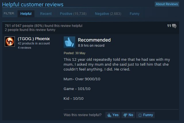 "Steam's ""most helpful"" user review of Call of Duty: Black Ops 2 https://t.co/t86WXtZWSG"