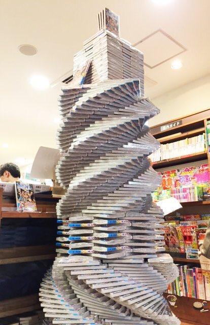 """タモリ倶楽部で特集された「書店員として必要のない技」""""本タワー""""にTLで賛否両論"""