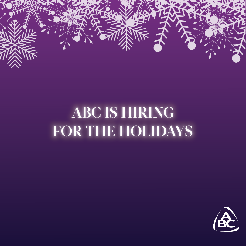 Looking for a job to get you through the holidays? ABC is hiring for the season!  https://t.co/MWdaCXyVYk https://t.co/zZRdDQZLxl