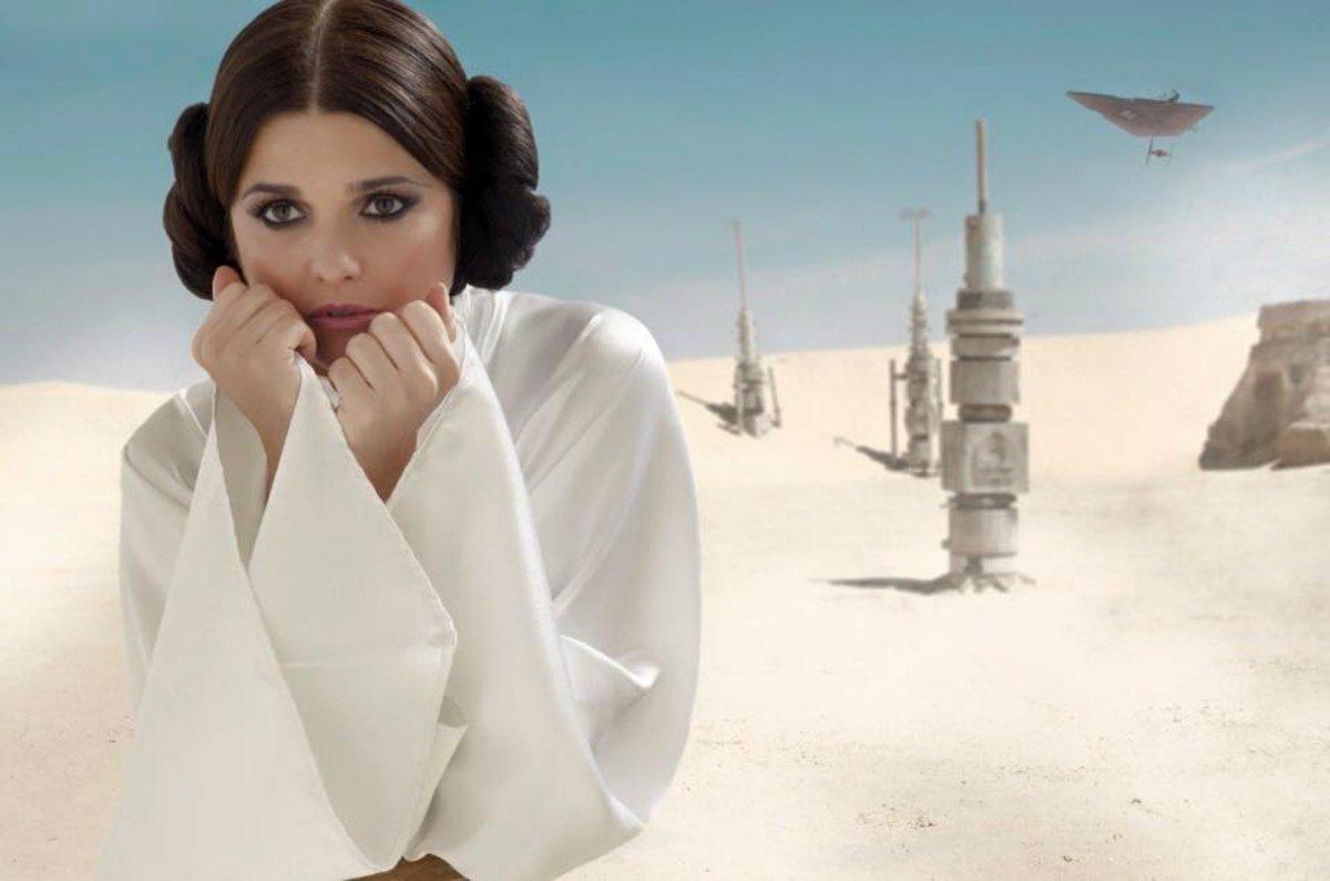 la 100 on twitter araceli gonzález princesa leia de star wars