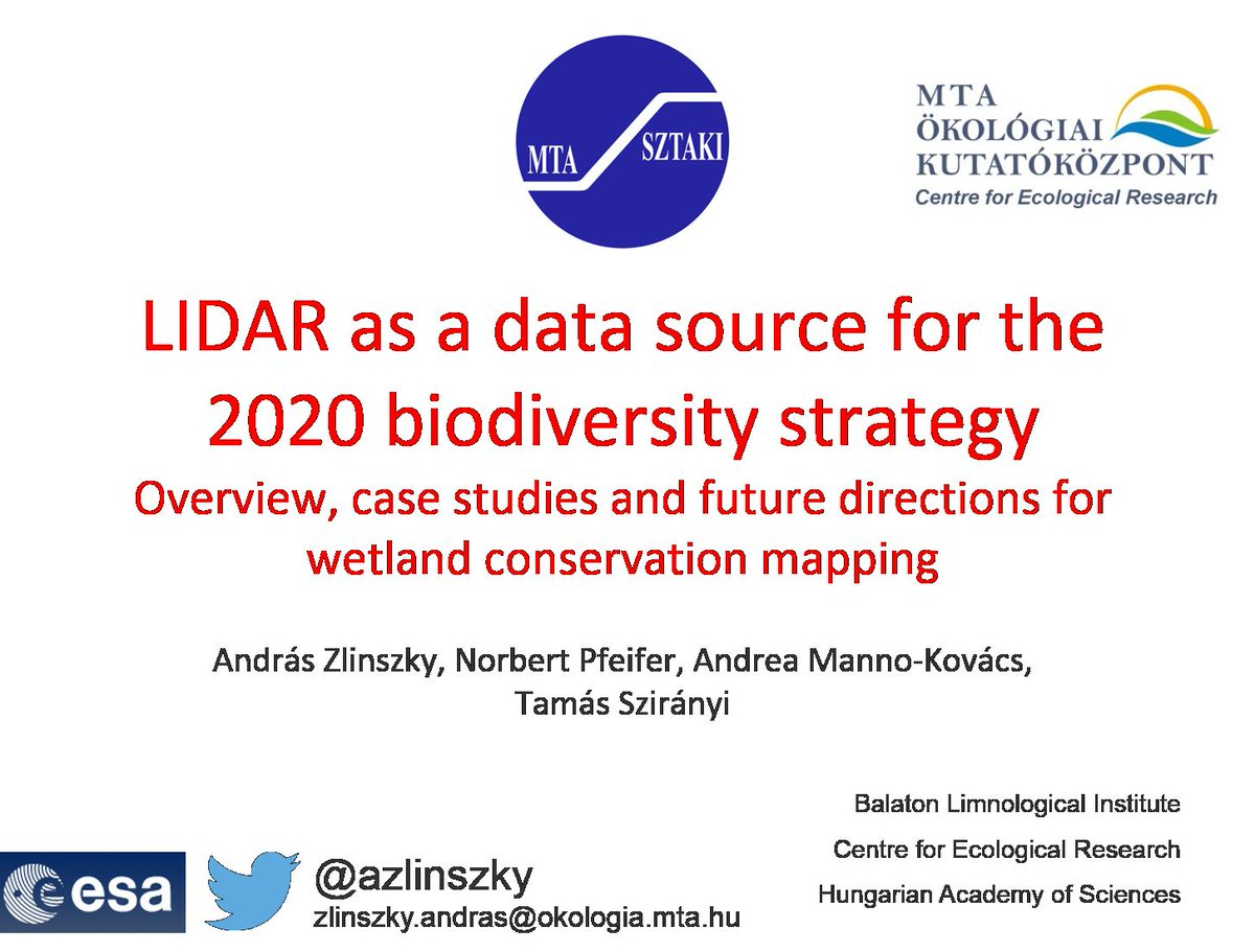 #rscw2015 Sevilla; conclusion: (nearly) all wetland scientists use #Landsat. Lets see what #LIDAR can do https://t.co/g6ee2sTvqn