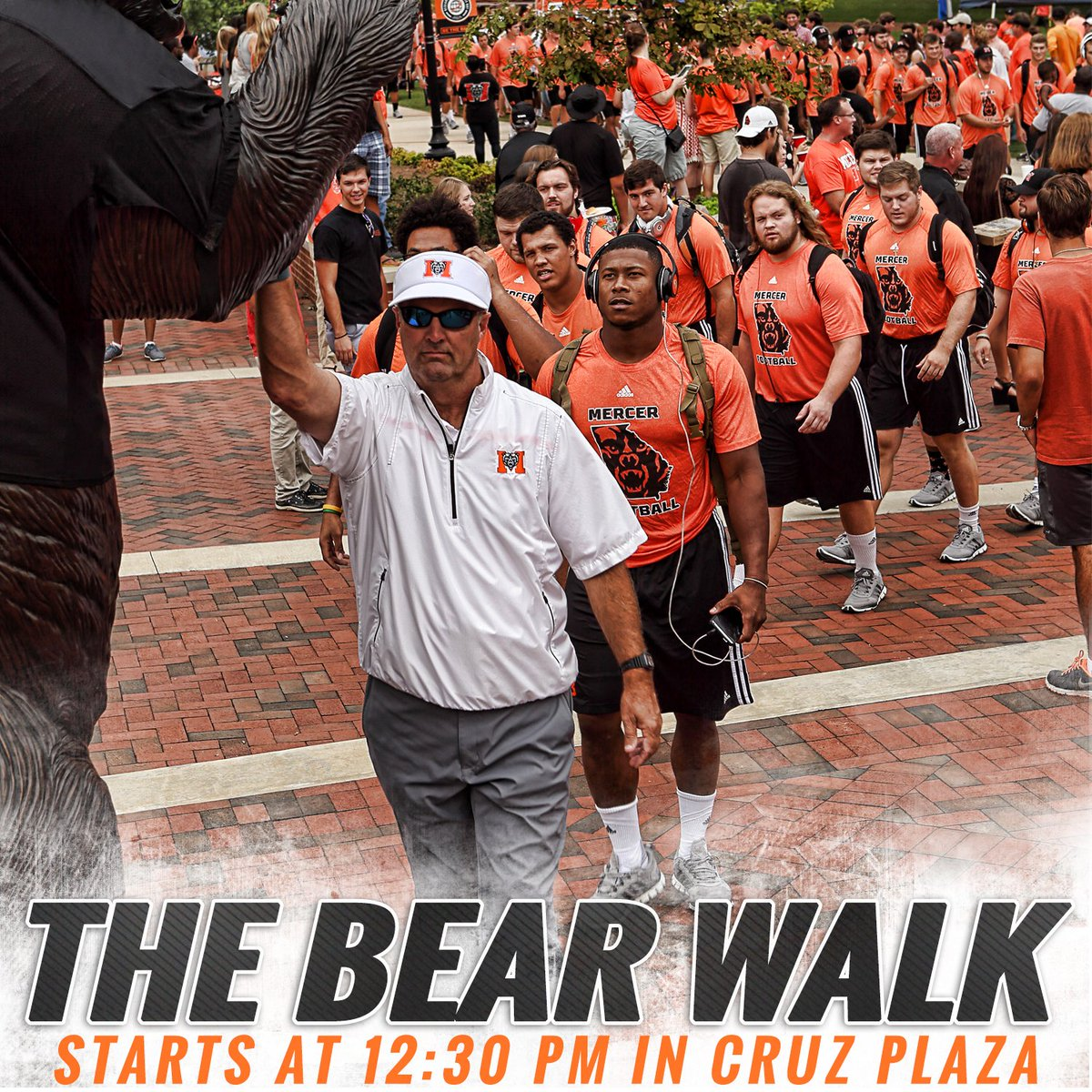 Just two hours away from a special #MercerHC15 Bear Walk! Cheer on the team at 12:30 PM in Cruz Plaza! #BeatVMI https://t.co/BeaiBZzmtK