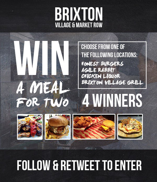 Getting hungry this #weekend enter our #competition #win #brixtonlocals #love #independent #traders #retweet https://t.co/kZvk7ghADO