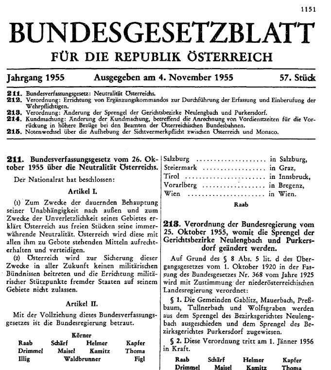 Seinerzeitung On Twitter Bundesverfassungsgesetz Vom 26 Oktober