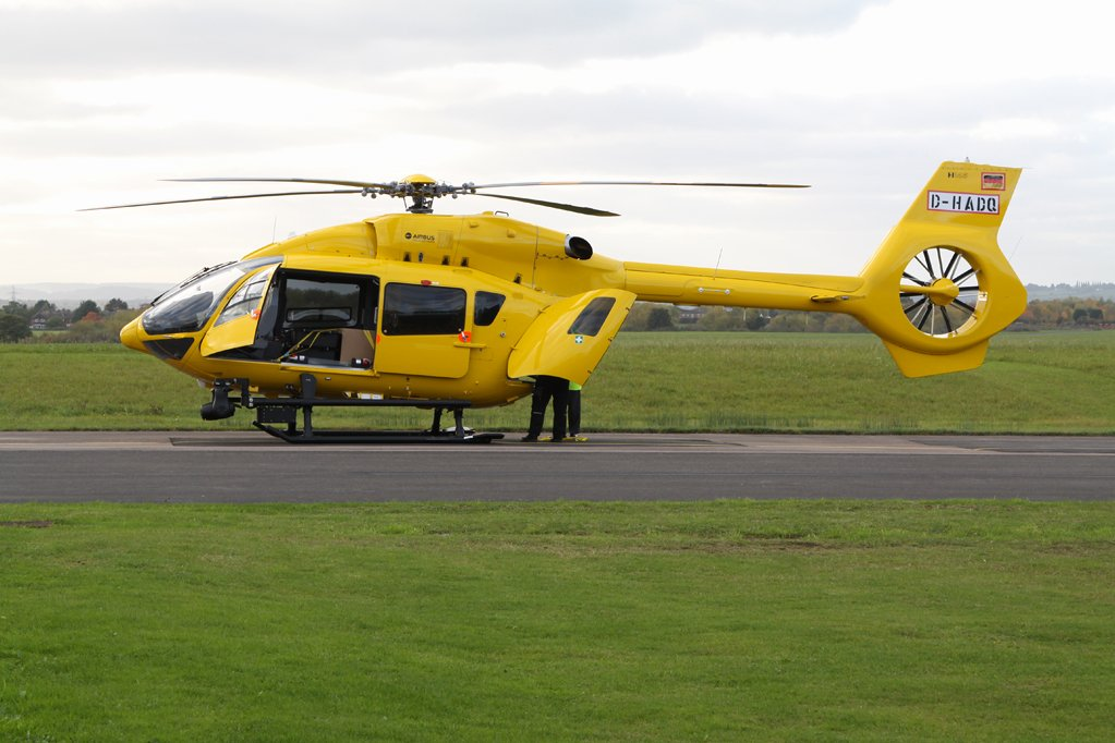 H145 D-HADQ was delivered to Bond yesterday - it will shortly become G-RESU for the East Anglian Air Ambulance. https://t.co/BsXZT9K77r