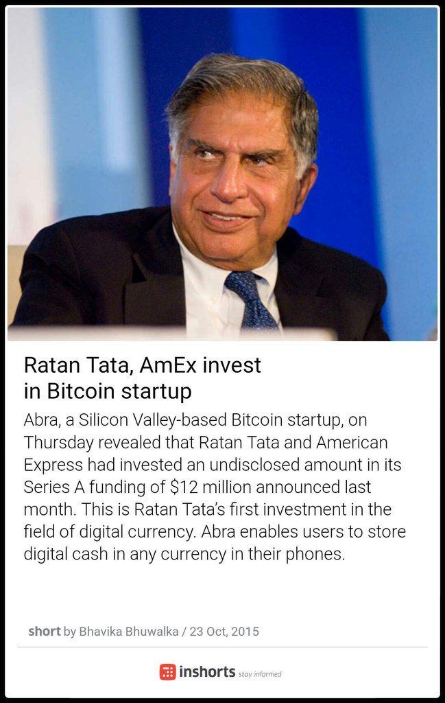 Bitcoin Invest Ratan Tata