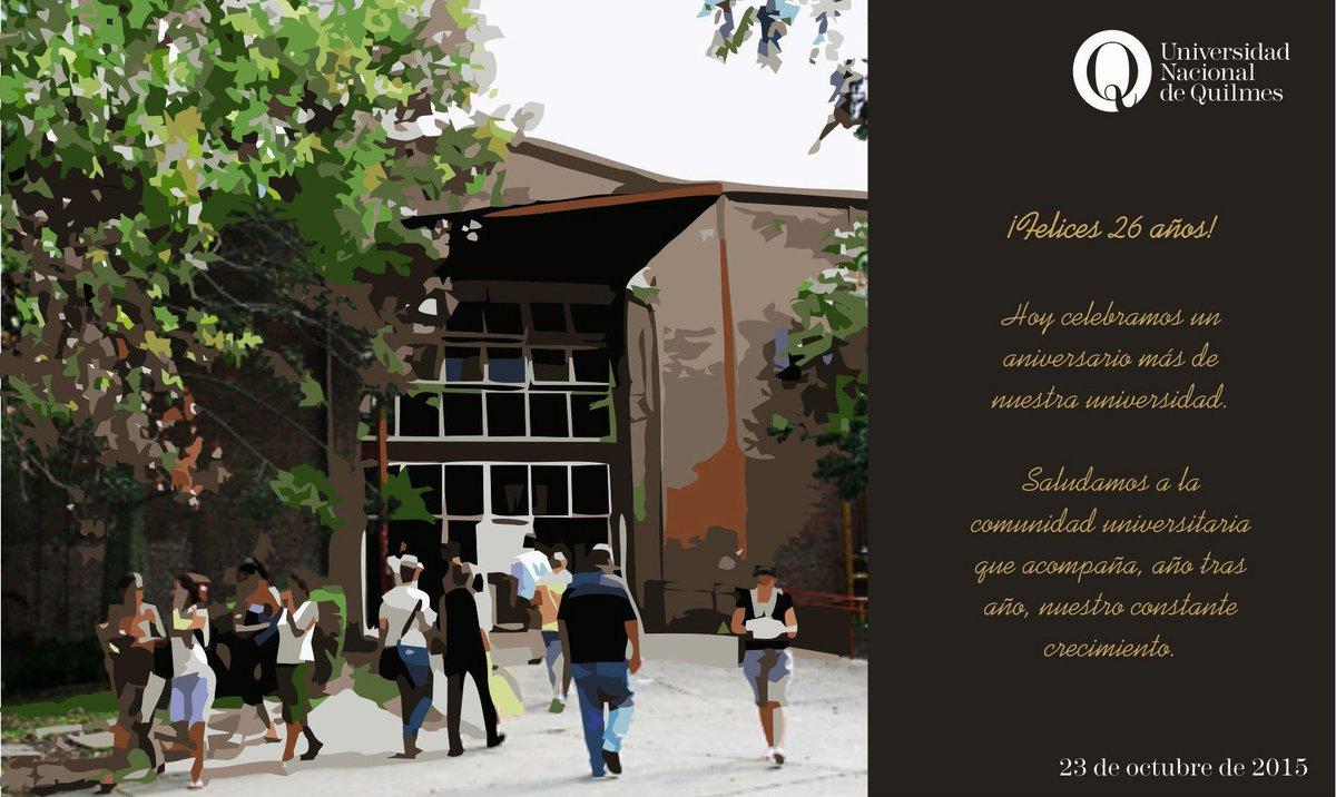 @UNQoficial cumple años y estamos de festejos @Bimodalidad @uvquilmes @Posgrado_UNQ @EditorialUNQ @audiovisualunq https://t.co/C7QqKr89Jh