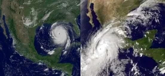 Hurricane #Katrina and Hurricane #Patricia.  Oh God... #PrayForMexico https://t.co/dJl4DPij6m