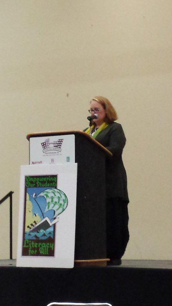 Deborah Wiles shared her obstacles and triumphs at NCSLMA.  #NCSLMA15 https://t.co/YURyr7e9rL