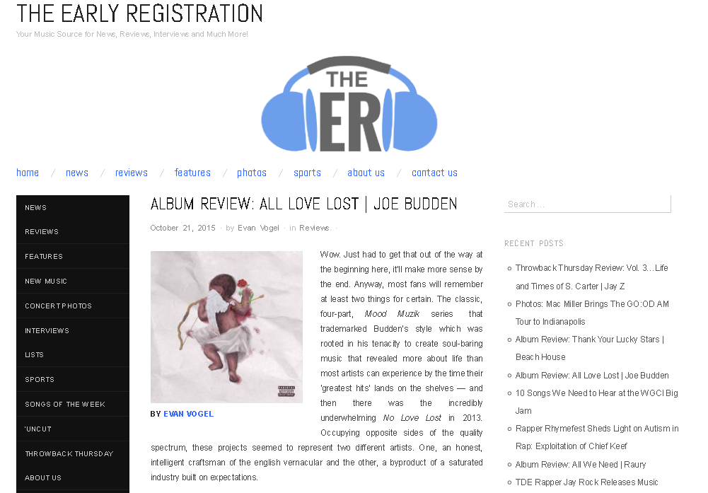 Check this in depth review of @JoeBudden's new #AllLoveLost on @TheEarlyReg | https://t.co/WTCJAIf9sJ https://t.co/XJcL7dNbtZ