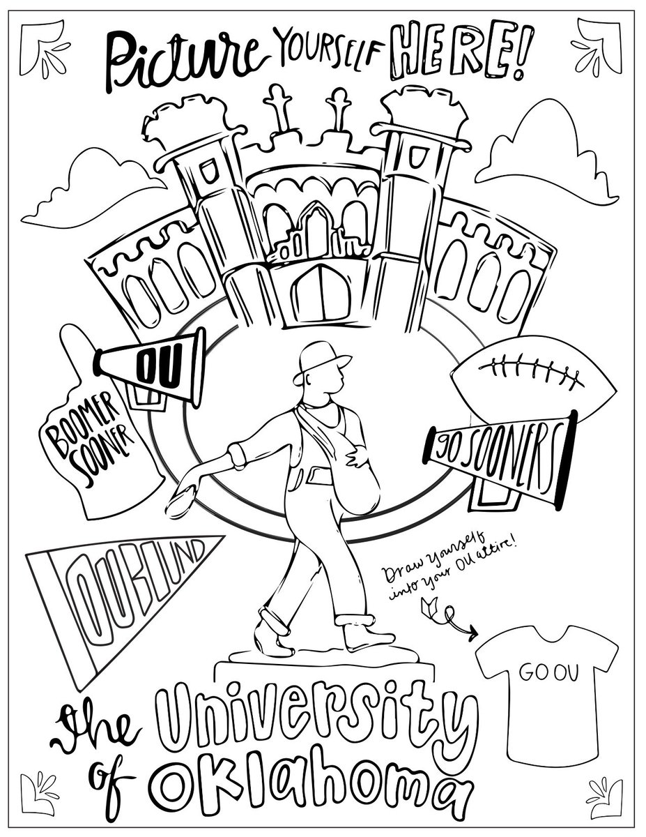 Univ Of Oklahoma On Twitter OU125 Homecoming Coloring Page For The Young And At Heart BoomerSooner Tco GcnP305VWh