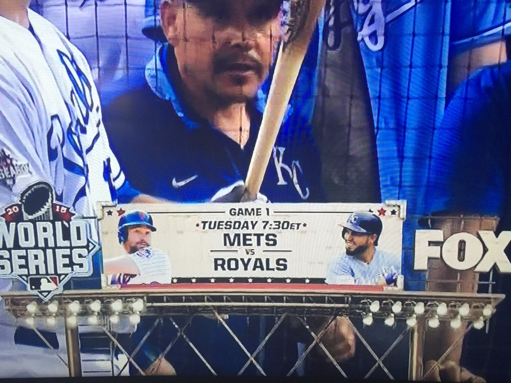 What the... Fox is already advertising Mets vs Royals. KC hasn't won yet. #ALCS #BlueJays #ComeTOgether https://t.co/c33wVArk51