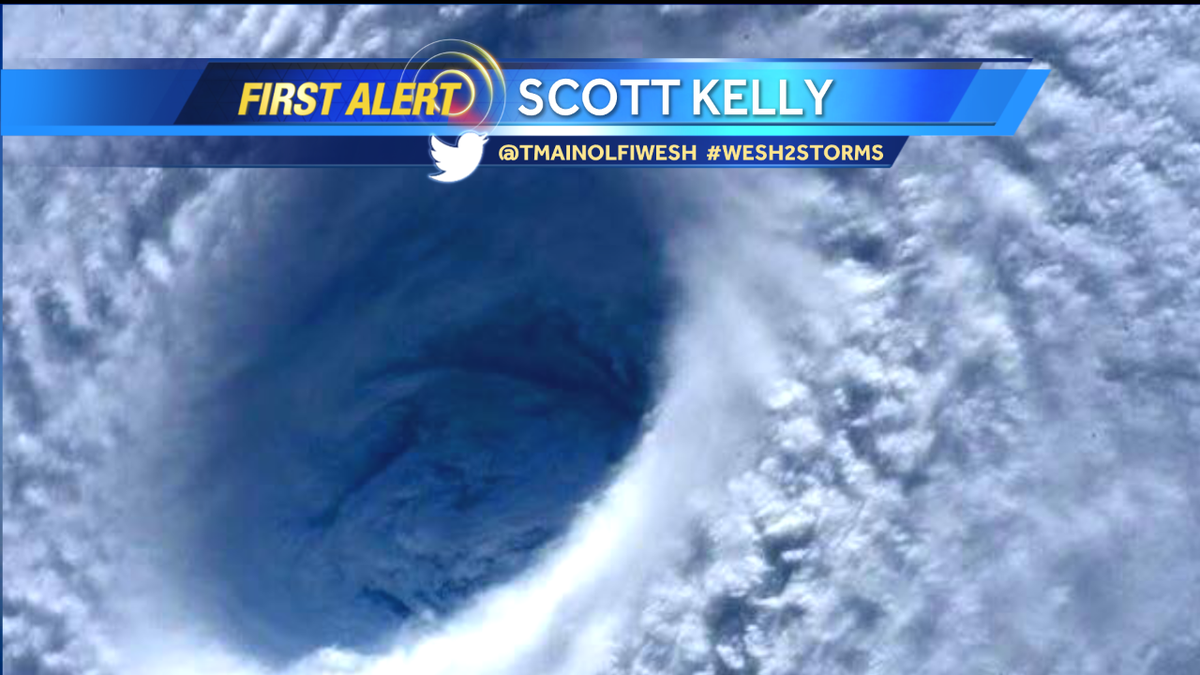 One of my favorite pictures of the day was from astronaut #ScottKelly of the #HurricanePatricia. #wesh2storms https://t.co/AqSh8r5014