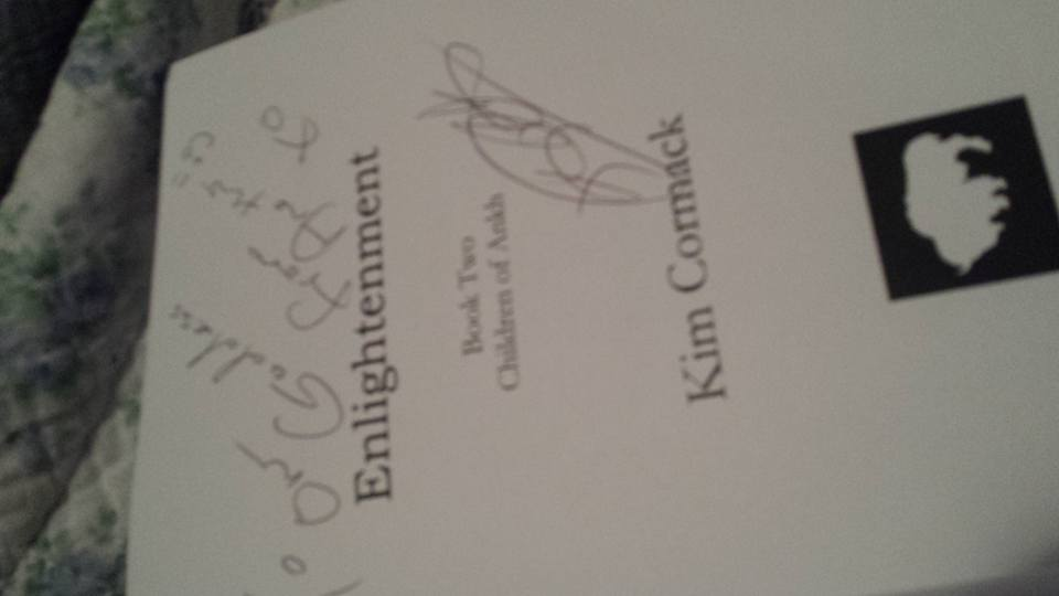 "Got my copy of 'Enlightenment"" book 2 in the #ChildrenofAnkh series by @kimcormack  at her book signing tonight .... https://t.co/zqTNuRoPBh"