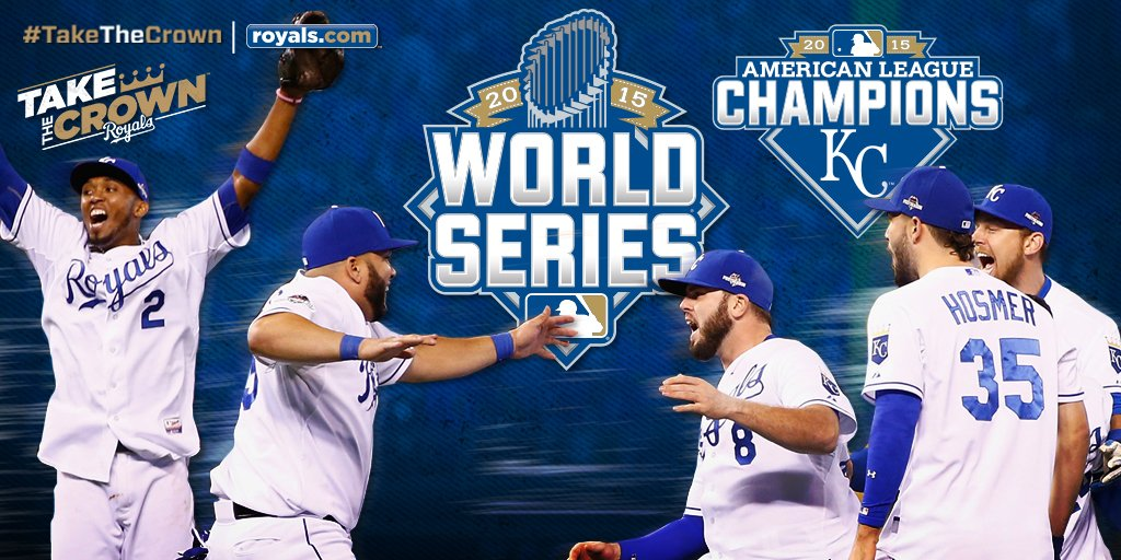 #BACKTOBACK AMERICAN LEAGUE CHAMPIONS! Your Kansas City Royals are heading to the World Series!!! #TakeTheCrown https://t.co/ak2UykllWw