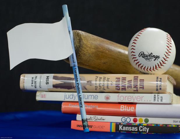 You made Canada proud, @BlueJays. Fun while it lasted @KCLibrary #bookspinepoetry #TakeTheCrown #ComeTOgether https://t.co/FE7r61YkvF