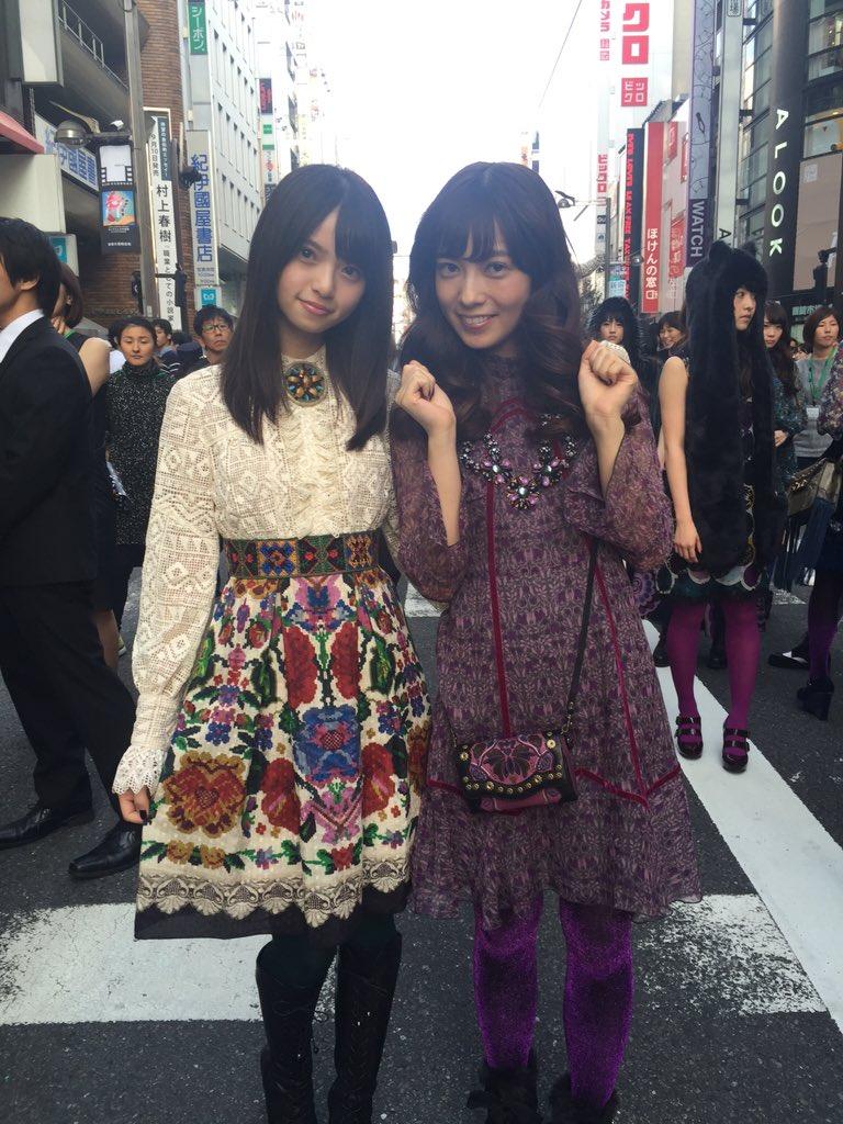 アナ スイ2015FWの広告ビジュアルに出演中の齋藤飛鳥さんと斉藤優里さんです! https://t.co/nJhZdTjDTZ