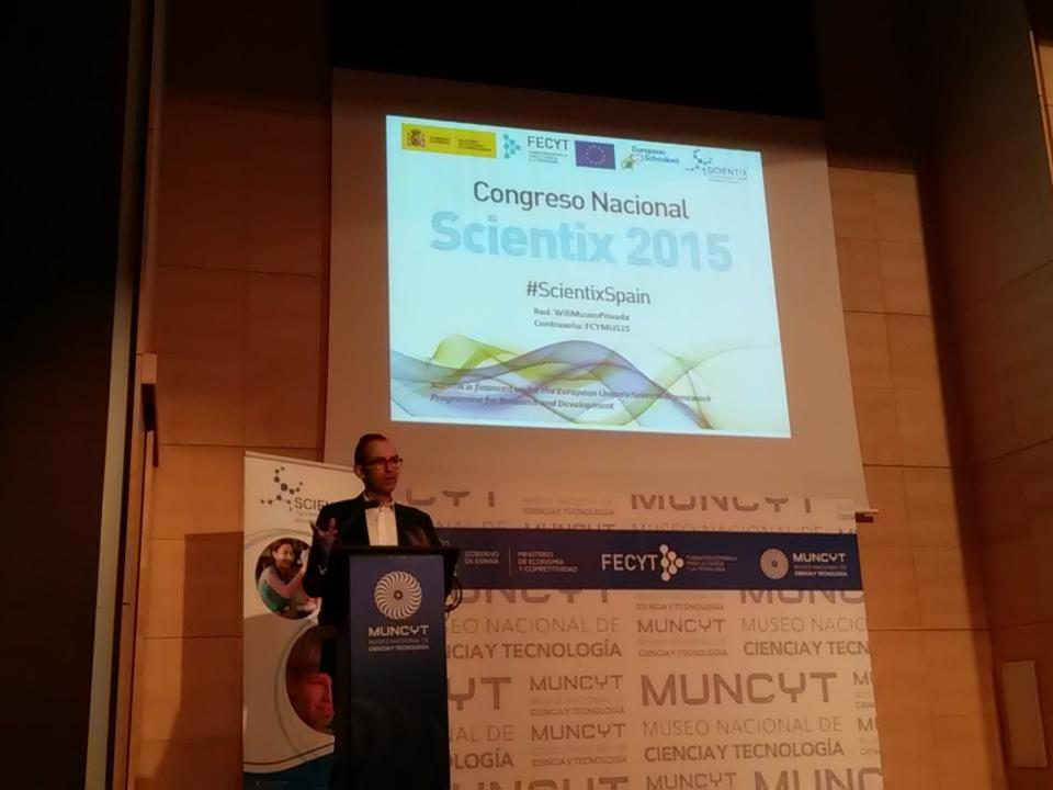 En la inauguración del congreso #ScientixSpain https://t.co/ZDsMtvfxWS
