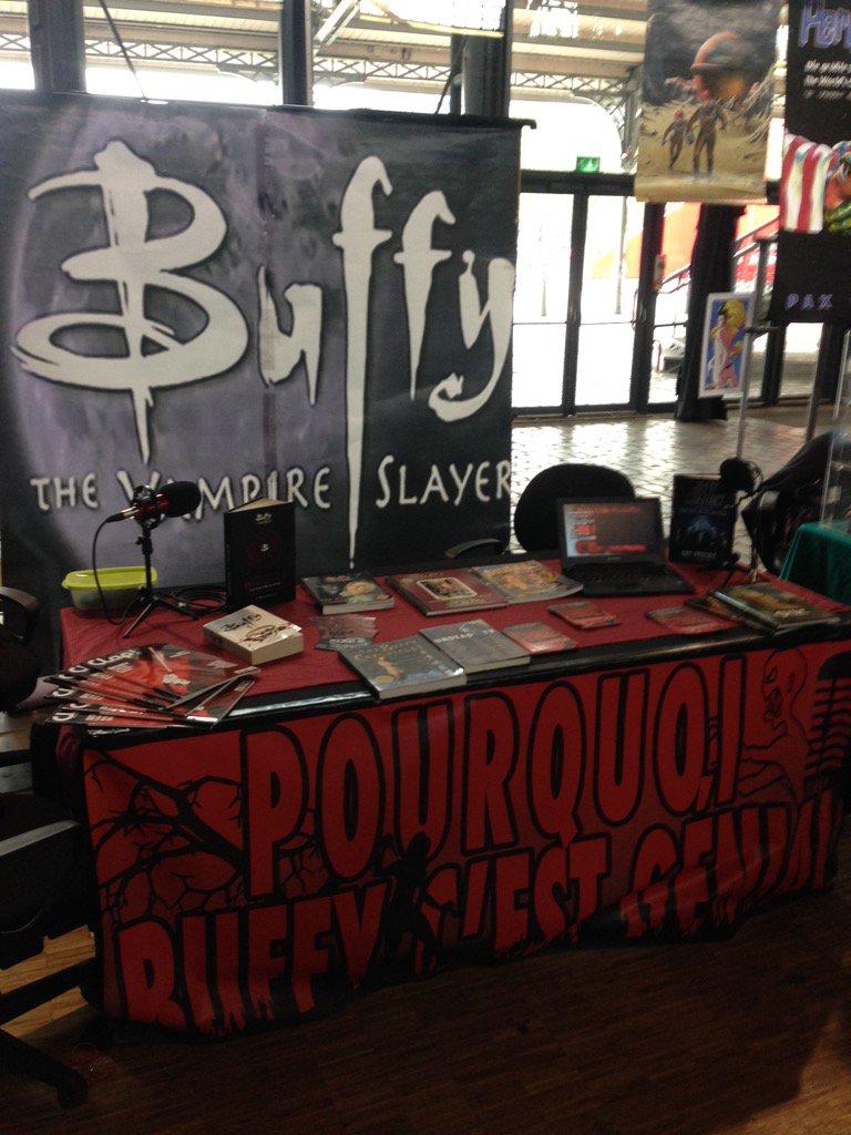 Le stand Pourquoi Buffy c'est Génial - Comic Con Paris 2015